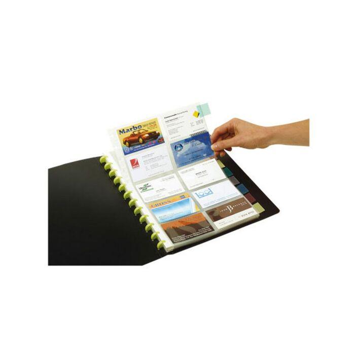 Marbig Kwik Zip Business Card Book Refill 10 Pack   Officeworks