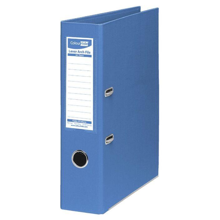 colourhide lever arch folder a4 2 ring pe blue officeworks