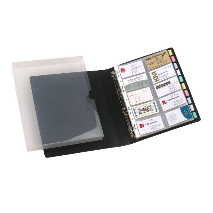 Marbig Business Card Book Case Black | Officeworks