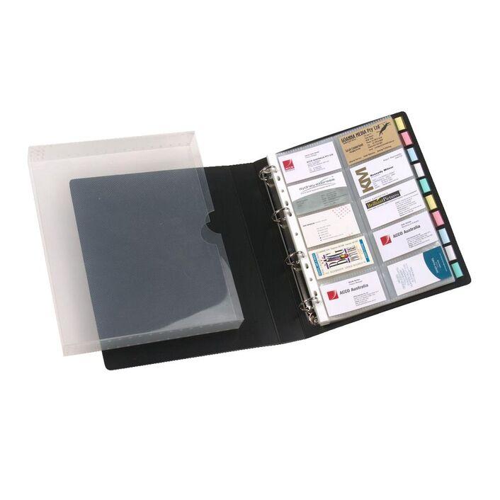 marbig business card book case black - Business Card Binder
