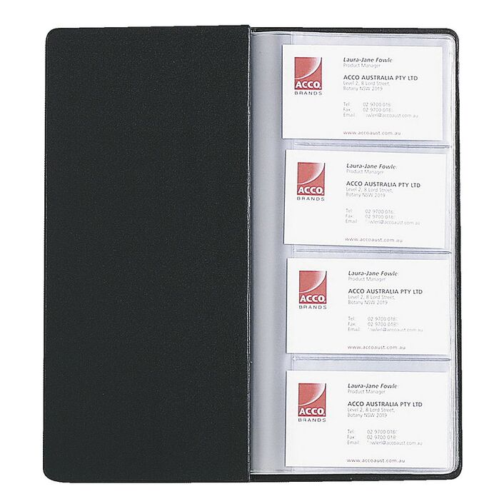 Marbig Business Card Holder Black | Officeworks