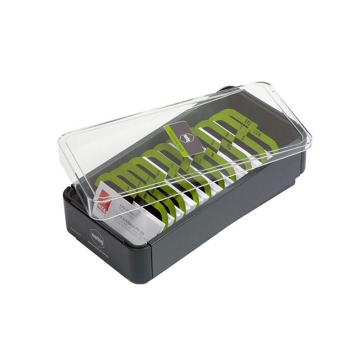 Marbig Pro Series Business Card Filing Box 400 Cards   Officeworks