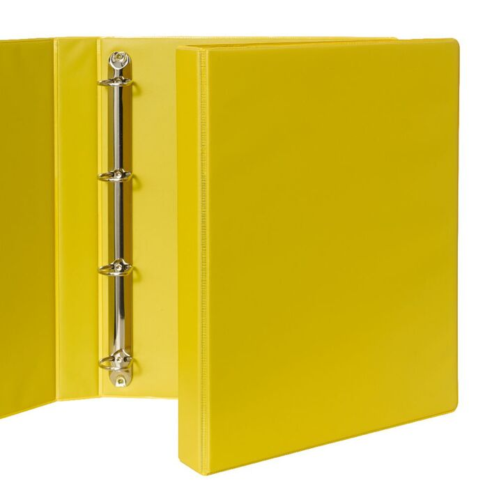 binder a4 4 d ring 25mm yellow officeworks