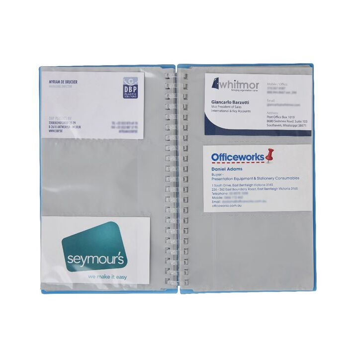 Aqua drops business card holder 120 capacity blue officeworks aqua drops business card holder 120 capacity blue reheart Image collections