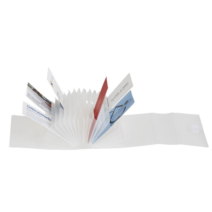 Aqua Drops Business Card Holder Clear | Officeworks