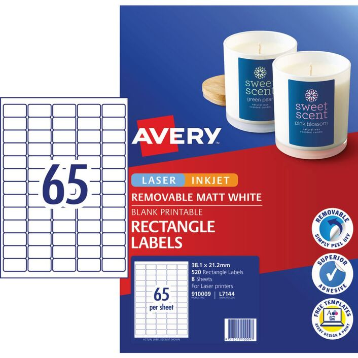 Avery Matte White Rectangular Pricing Labels 520 Pack Officeworks