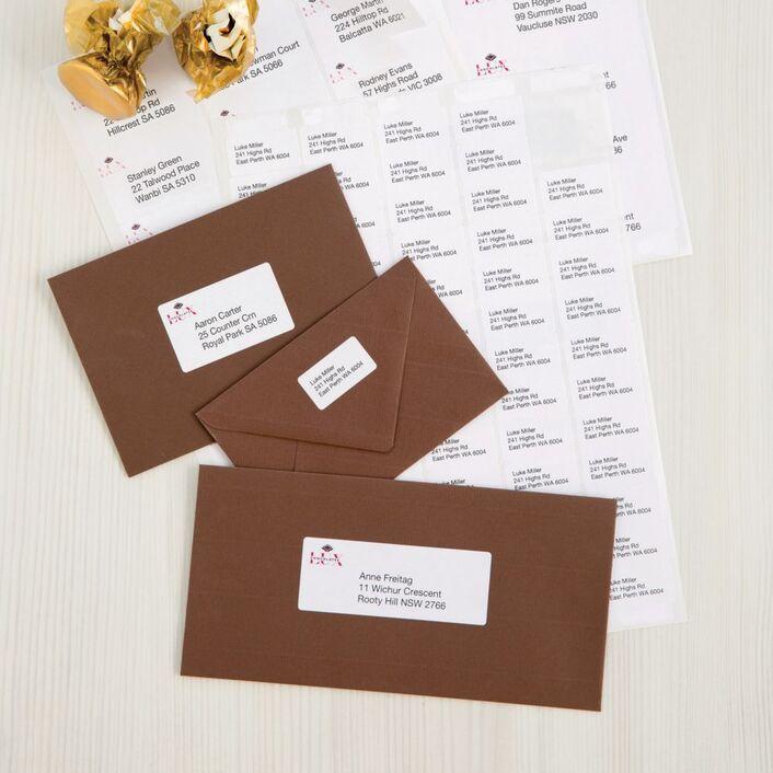 avery inkjet mini address labels white 65 up 25 sheet officeworks