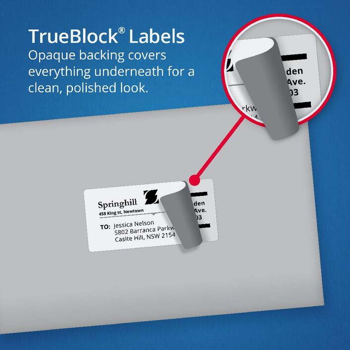 avery mailing labels 50 sheets 6 per page white officeworks