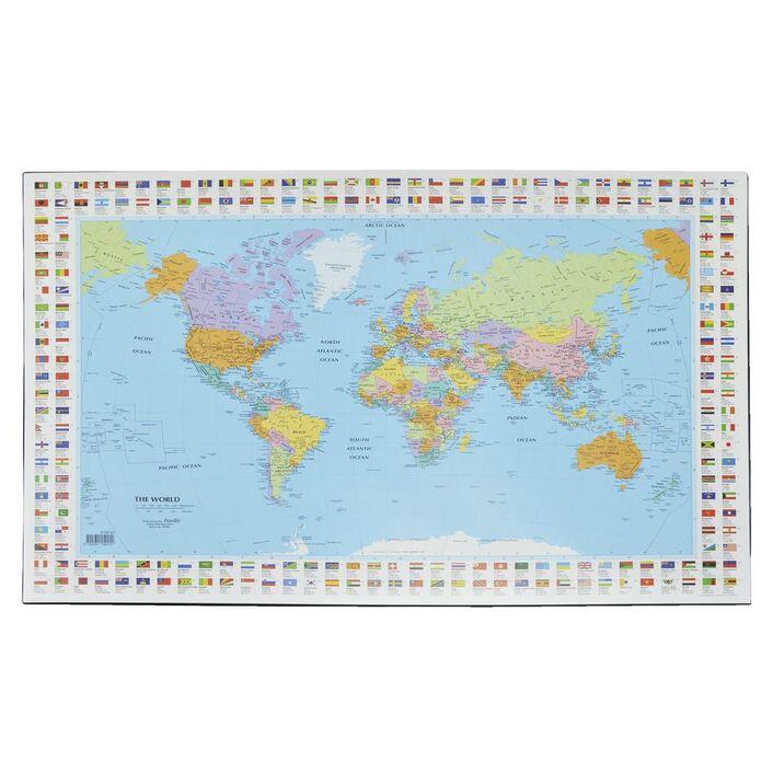 Bantex desk pad map of the world officeworks bantex desk pad map of the world gumiabroncs Images
