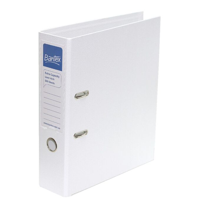 bantex a4 extra capacity 2 ring lever arch folder white officeworks