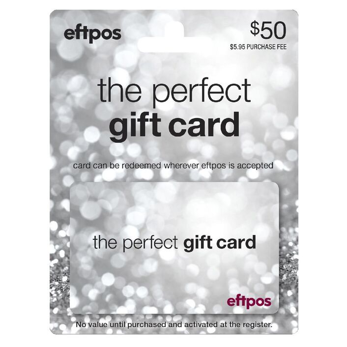 Eftpos Silver Gift Card 50 Officeworks