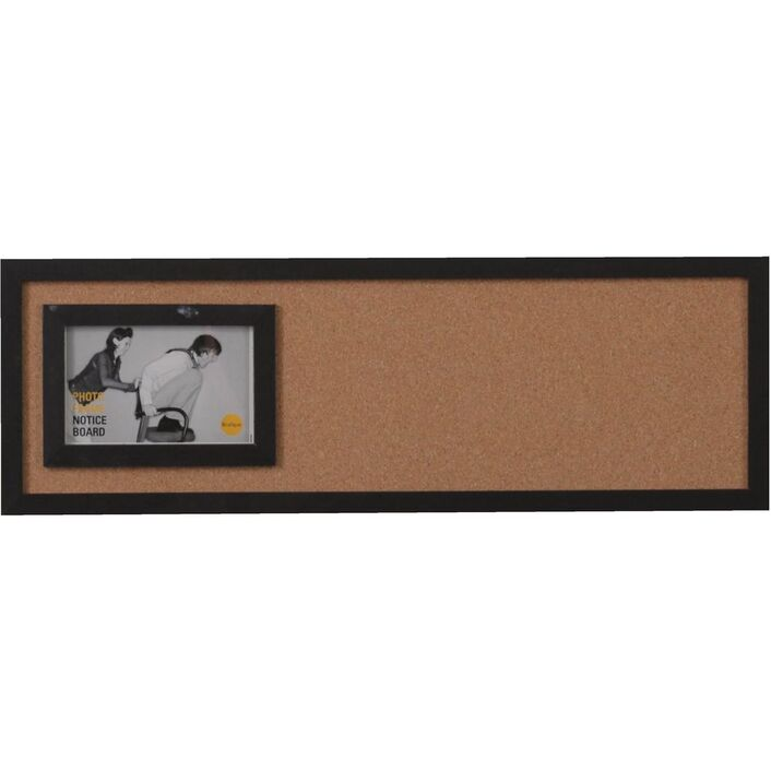 Bi-Office City Photo Frame Cork Board 600 x 200mm   Officeworks