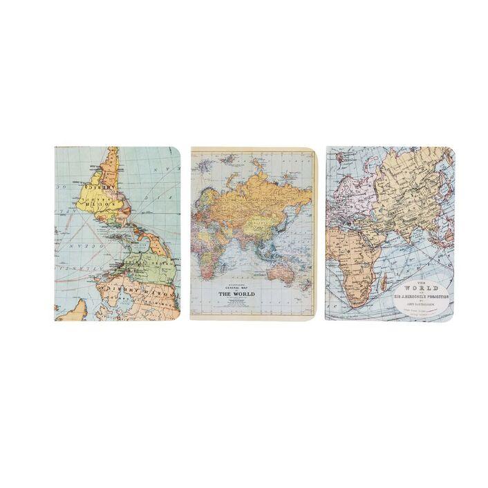Cavallini mini notebook world maps 3 pack officeworks cavallini mini notebook world maps 3 pack gumiabroncs Gallery
