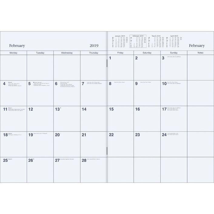 collins debden a4 colplan 2019 monthly planner blue officeworks