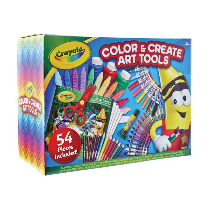 crayola colour create art tools box 54 piece officeworks