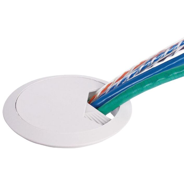 Wrapt Up 60mm Cable Cover White | Officeworks