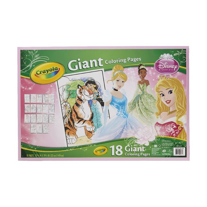 Crayola Giant Colouring Pages Disney Princess