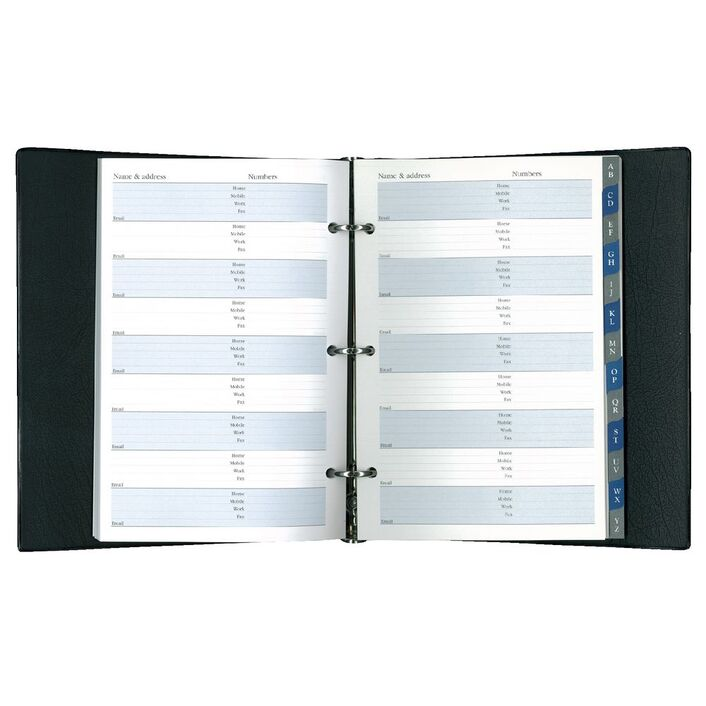 collins debden 3 ring address book black officeworks