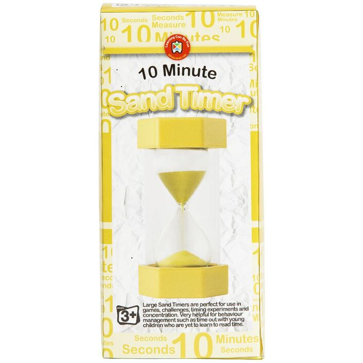 learning can be fun sand timer 10 minutes officeworks