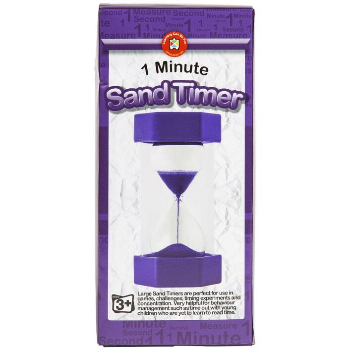 learning can be fun sand timer 1 minute officeworks
