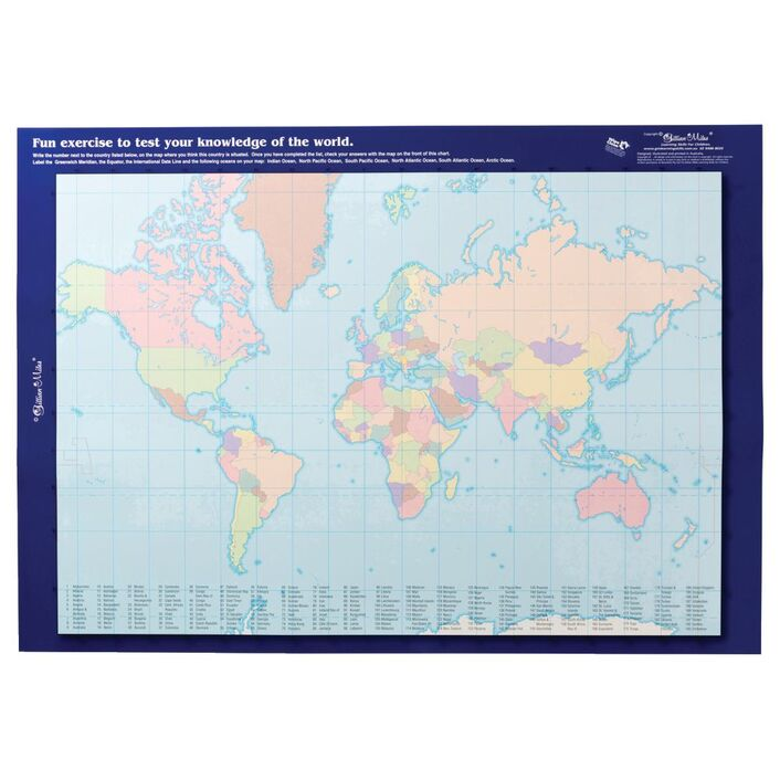 Gillian miles world map with flags double sided wall chart gillian miles world map with flags double sided wall chart gumiabroncs Gallery