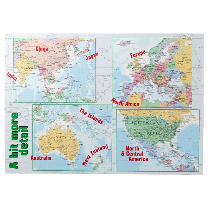 Gillian miles world map double sided wall chart officeworks gillian miles world map double sided wall chart gumiabroncs Image collections