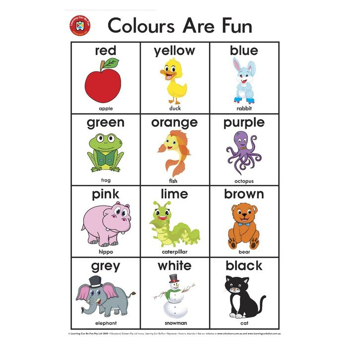 Learning Can Be Fun Wall Chart Colours Are Fun Officeworks