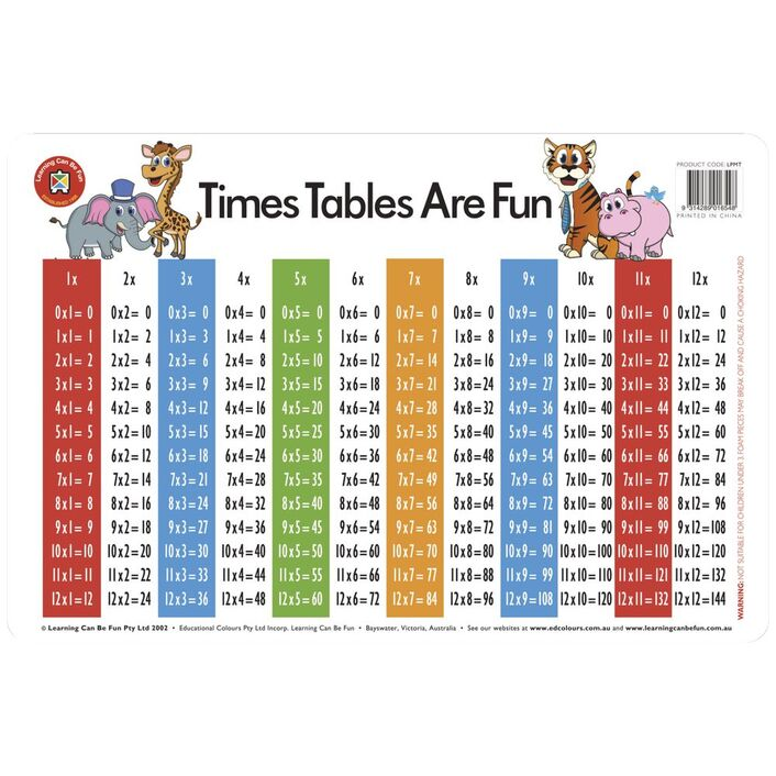learning can be fun desk mat time tables are fun officeworks