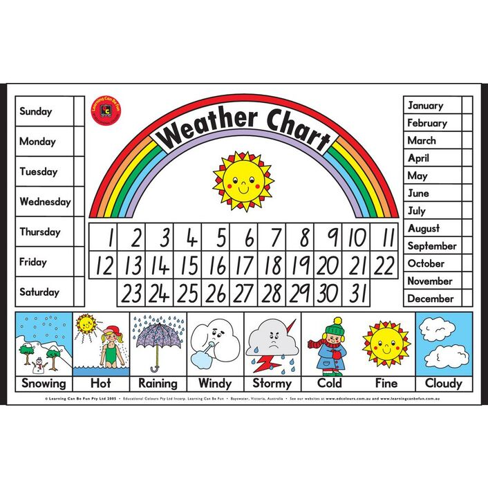 Learning can be fun weather chart officeworks learning can be fun weather chart gumiabroncs Gallery