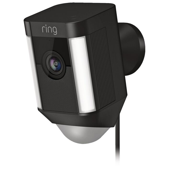 Ring Spotlight Wired Security Camera Black | Officeworks