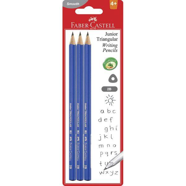 Faber-Castell Junior Triangular Graphite Pencils 2B 3 Pack