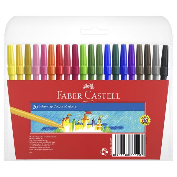 Faber-Castell Fibre Tip Markers 20 Pack
