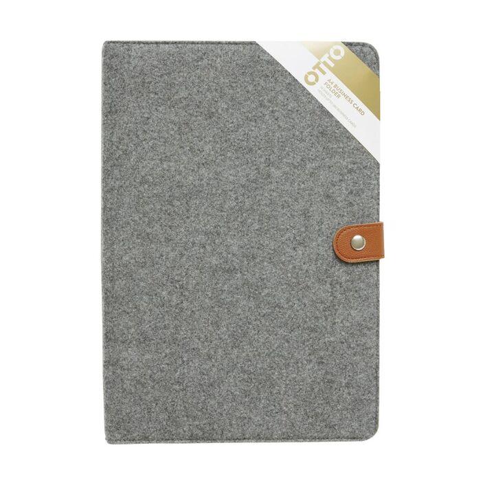 Otto A4 Felt Business Card Folder Grey | Officeworks