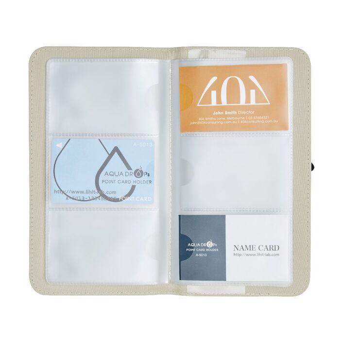 Otto Linen Business Card Folder Cream | Officeworks