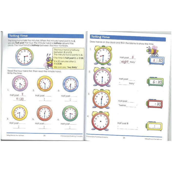 School Zone Time Money and Fractions I Know It Workbook   Officeworks