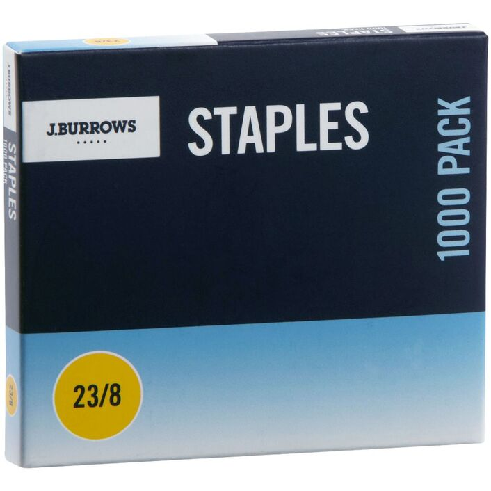 JBurrows 23 8 Staples 1000 Pack