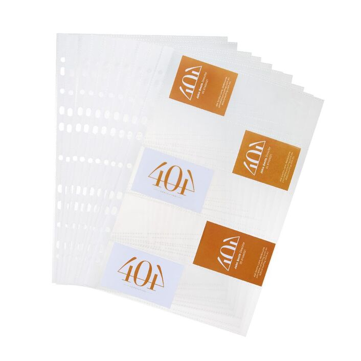 Jburrows binder business card holder 10 pack clear officeworks jburrows binder business card holder 10 pack clear colourmoves