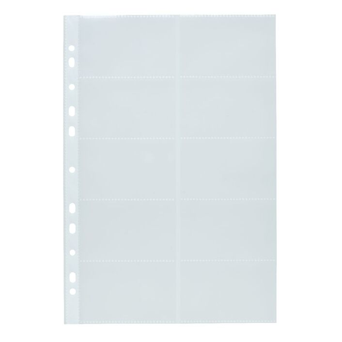 J.Burrows Binder Business Card Holder 10 Pack Clear | Officeworks