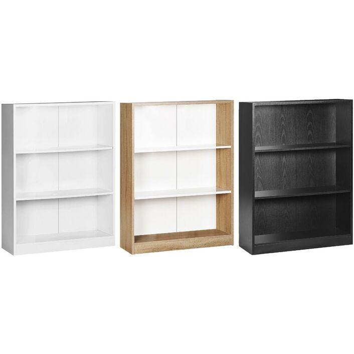 Austin 3 Shelf Bookcase Oak And White