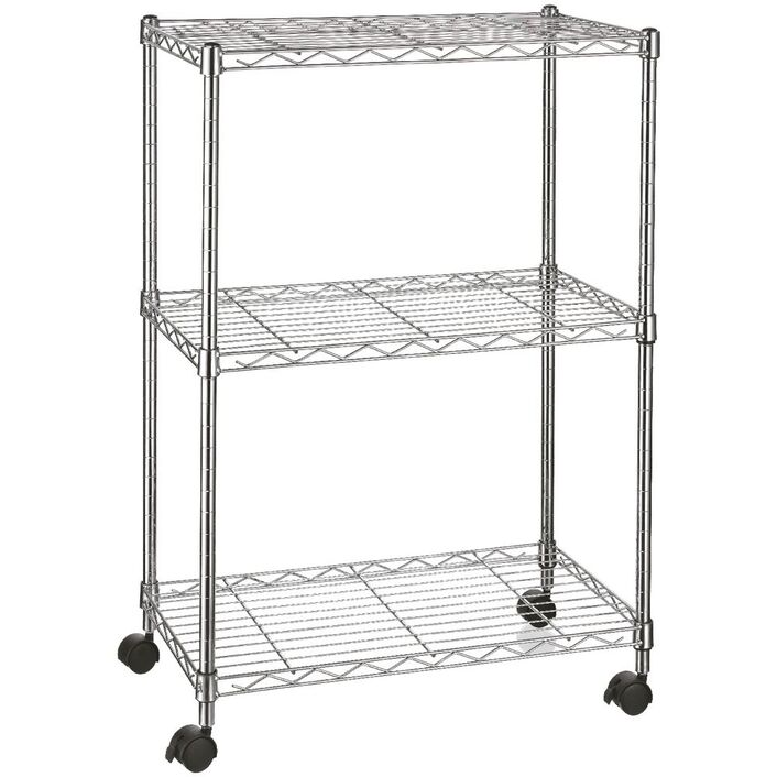 3 Tier Wire Shelving Unit | Officeworks