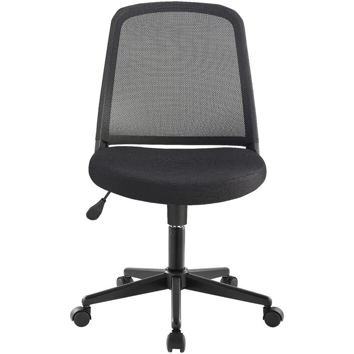 acton medium back mesh chair black officeworks