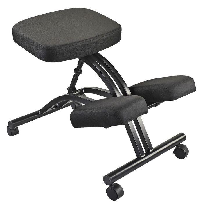 adjustable kneeling stool black officeworks