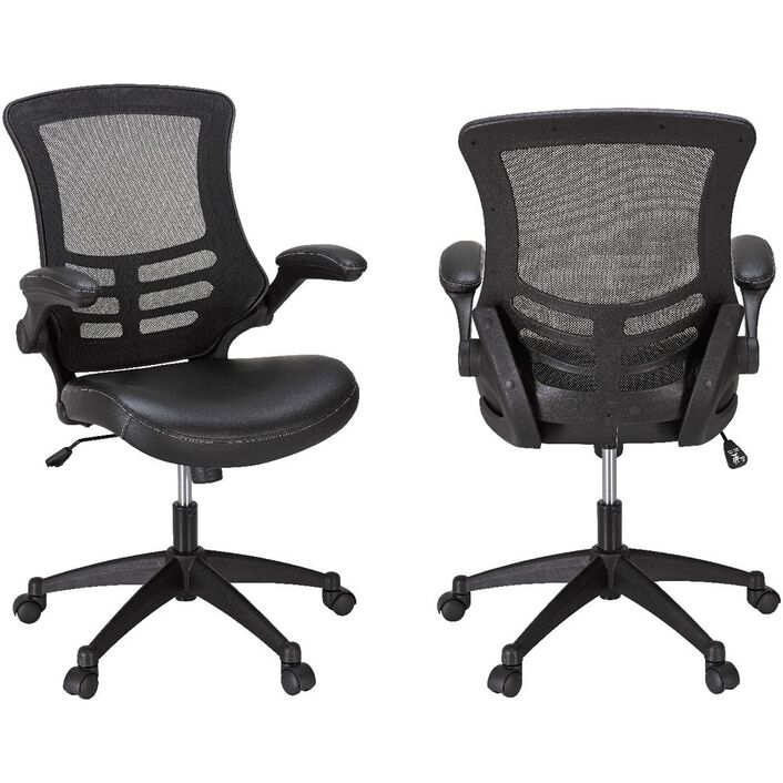 Baku Medium Back Chair Black | Officeworks on