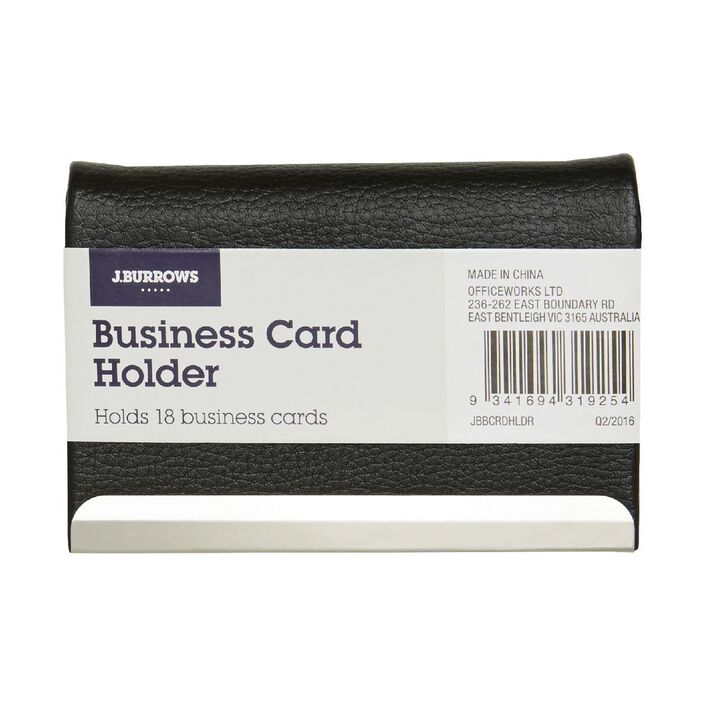 J.Burrows Business Card Holder   Officeworks
