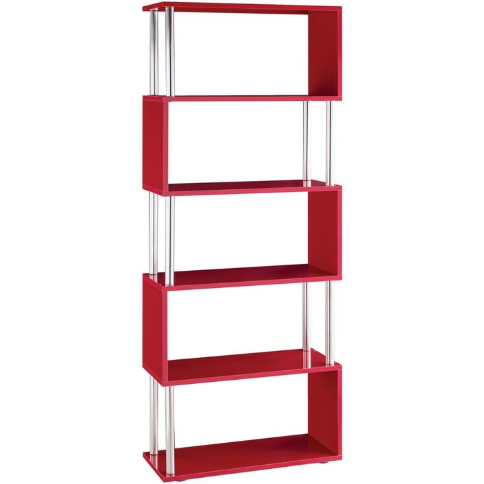 product bookshelf fit metal bookcase shelves aspect height chairish red with glass width