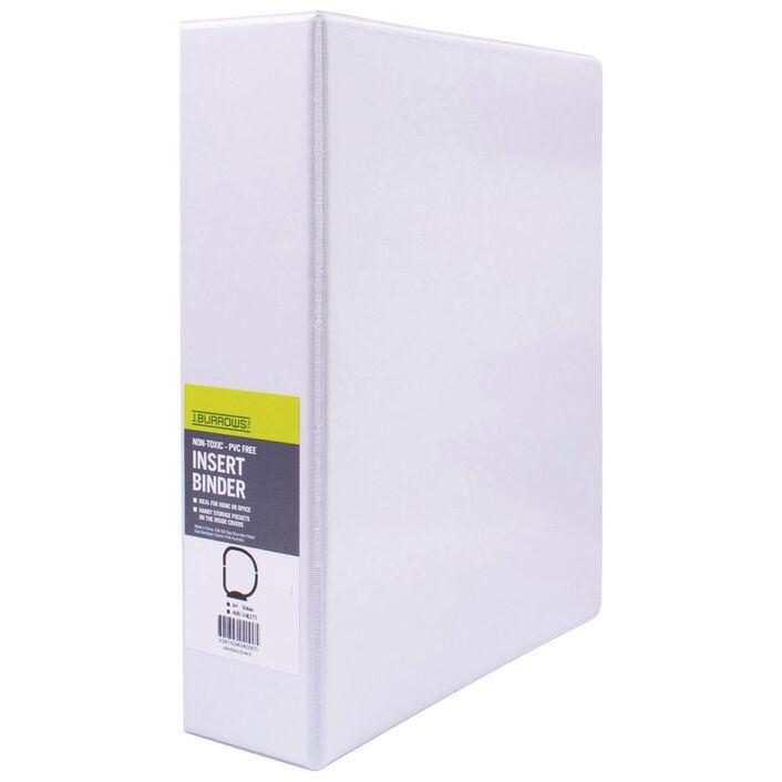 j burrows insert binder a4 4 d ring 50mm white officeworks