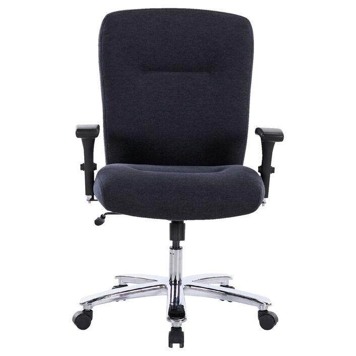 matrix big and tall fabric chair dark grey officeworks