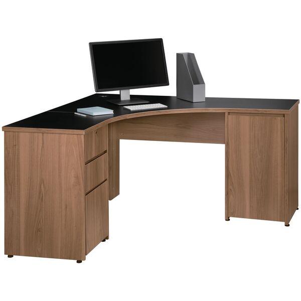Washington 1500 X 1500mm Corner, Corner Desk Black
