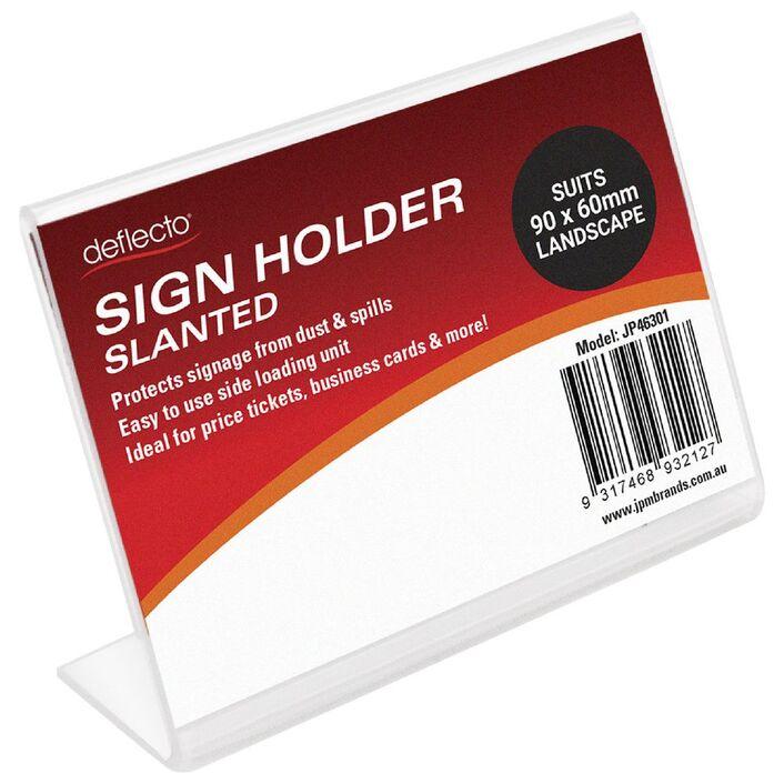 deflect-O Slanted Business Card Sign Holder | Officeworks