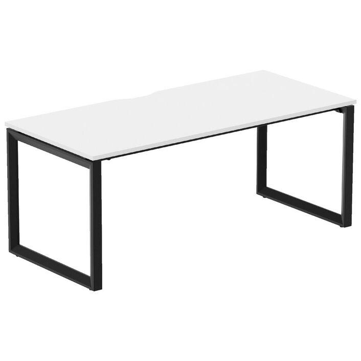 stilford professional desk 1800mm black white officeworks
